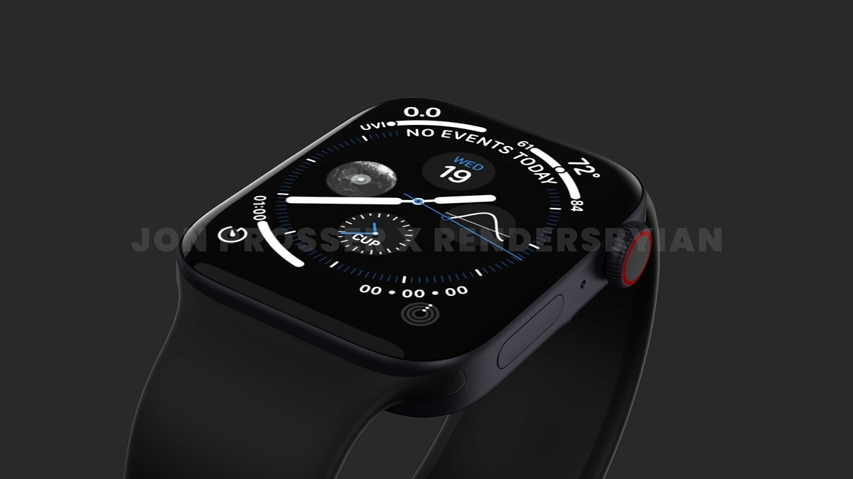 Apple Watch Series 7 leaks in renders with flat sides and display