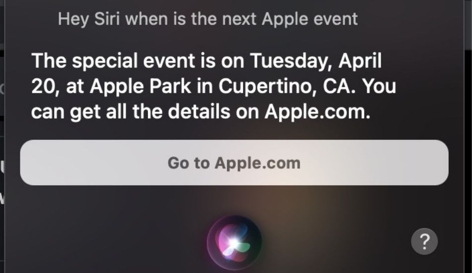 Siri leaks  Apple's upcoming event date