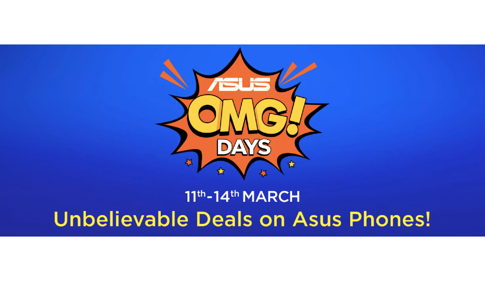 Asus OMG days sale from April 15 to 18: Discounts on Zenfone 5Z, Max Pro M1, Max M2 and more