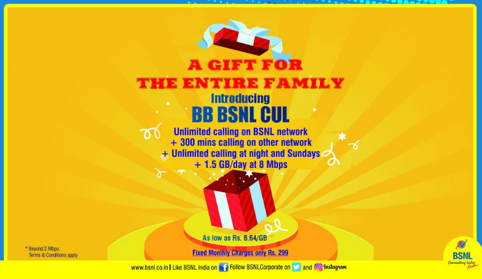 BSNL introduces Rs 299 broadband plan with 1.5GB daily data