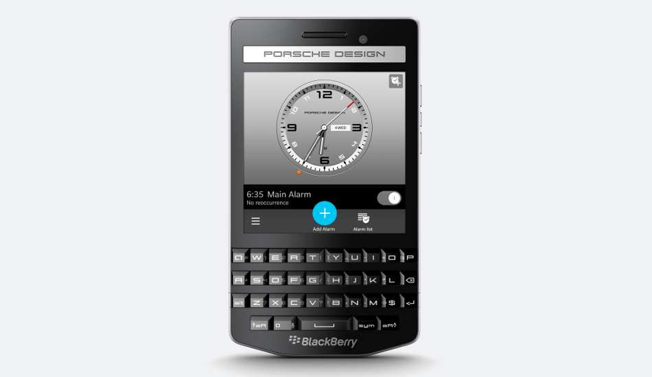 BlackBerry Porsche Design P'9983 Graphite launched in India at Rs 99,990