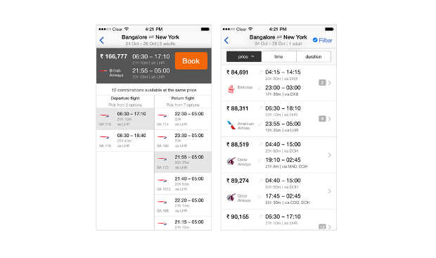 Redesigned Cleartrip app for iOS 7 now available