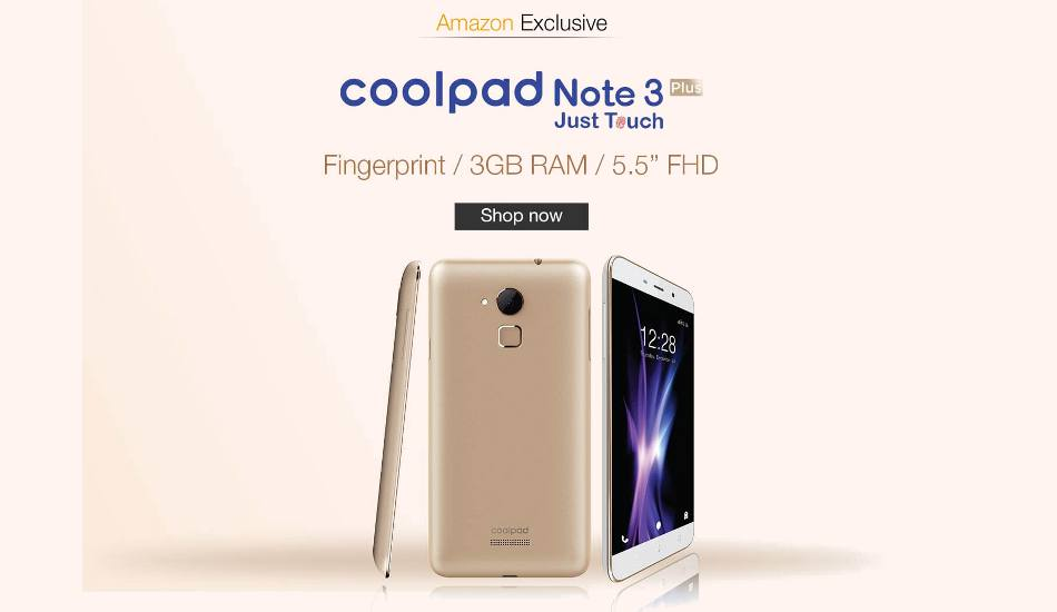 Coolpad Note 3 Plus now available for purchase at Amazon India for Rs 8,999