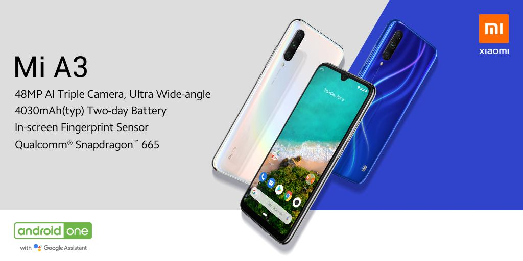 Xiaomi Mi A3 with Android One programme, Snapdragon 665 SoC announced