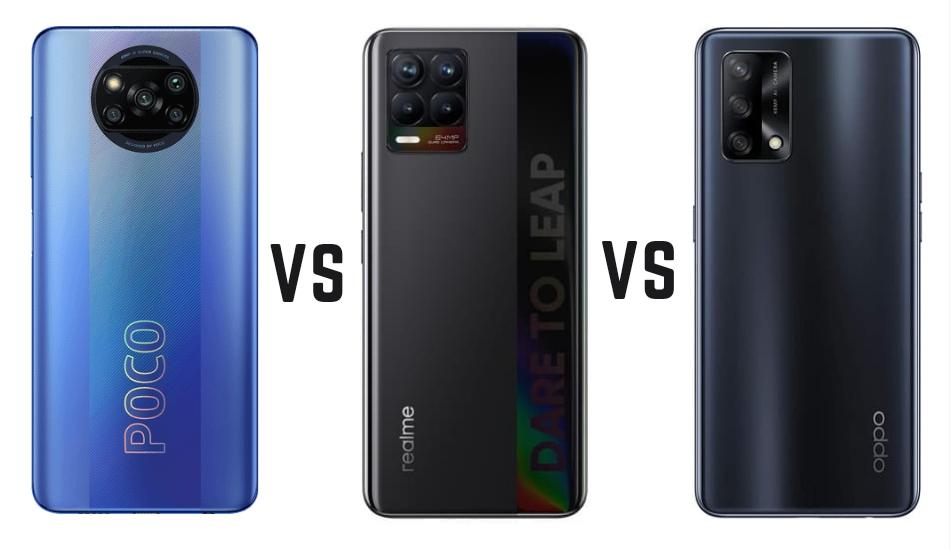 Oppo F19 vs Realme 8 vs Poco X3 Pro