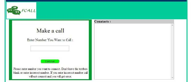 Fcall offers free 10 calls of 1 minute each per day to users