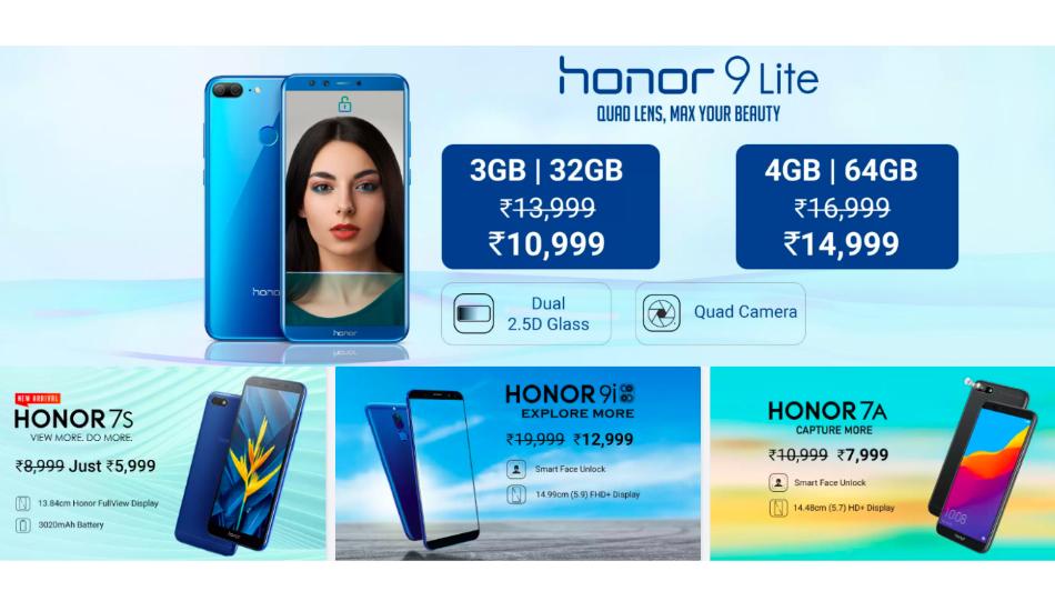 Flipkart Honor Days Sale: Deals on Honor 10, 9N, 9 Lite, 9i, 7A, 7S