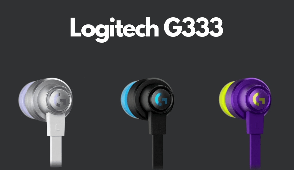 Logitech G333 wired gaming earphones launched