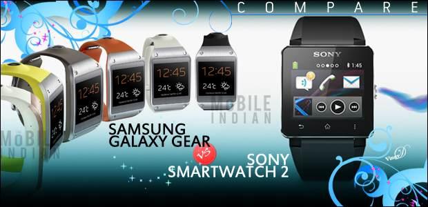 Samsung Galaxy Gear Vs Sony SmartWatch 2
