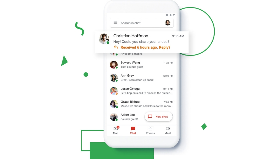 Gmail integrates Google Chat, Rooms within one app, now available for all users