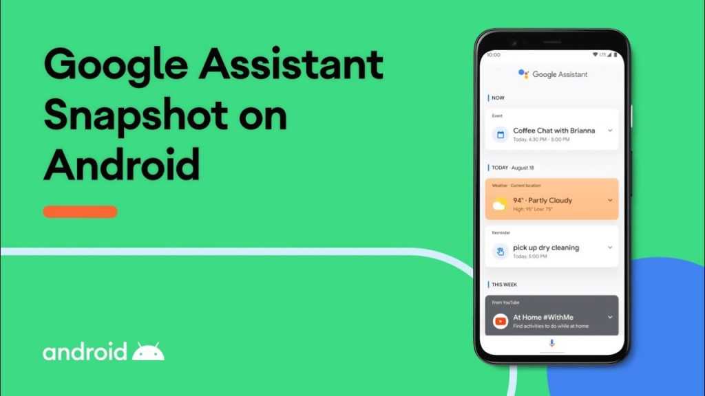 Google announces updates to Google Assistant Snapshot
