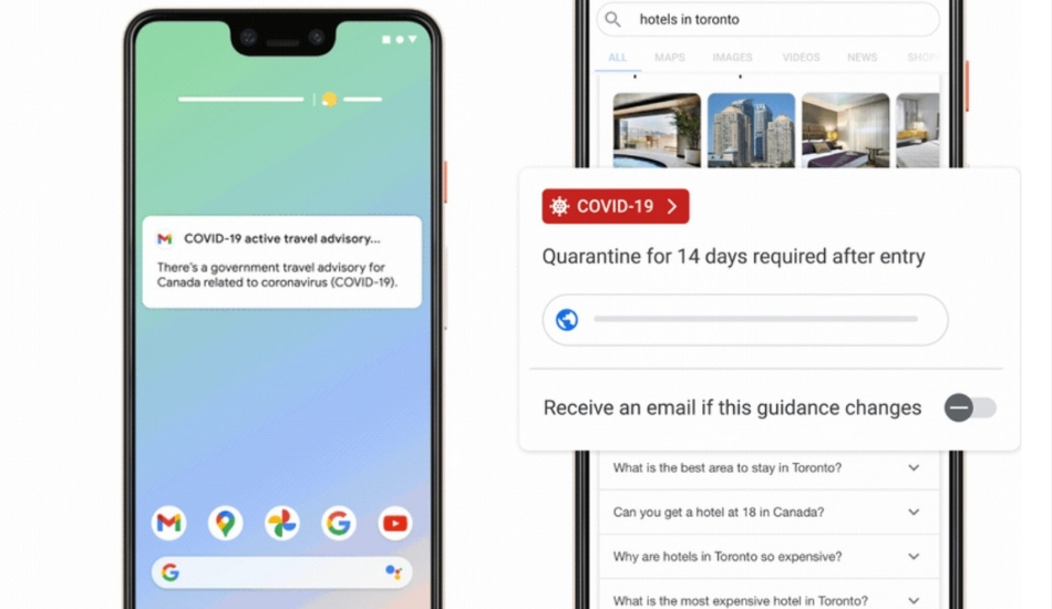 Google unveils new Travel Tools to show COVID Advisories