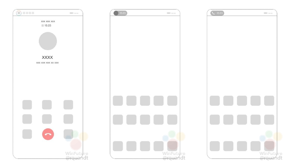 Huawei files a patent for an under-display camera