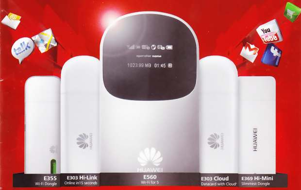 Huawei to launch 6 new operator free 3G dongles