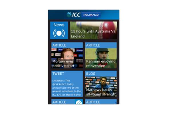 Follow T20 world cup with ICC app for BlackBerry