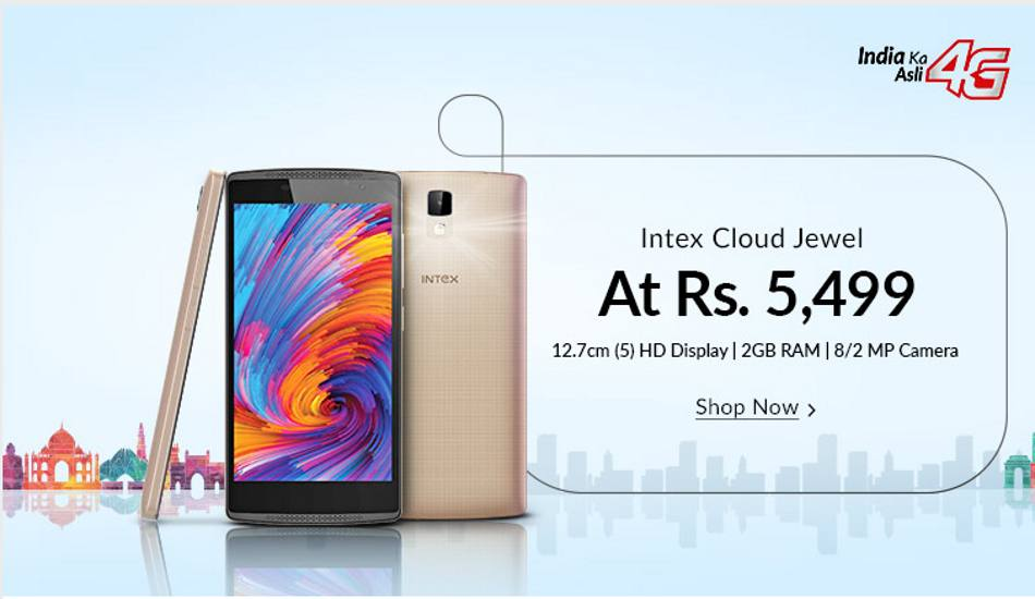 Intex Cloud Jewel gets a price cut, now available at Rs 5,499