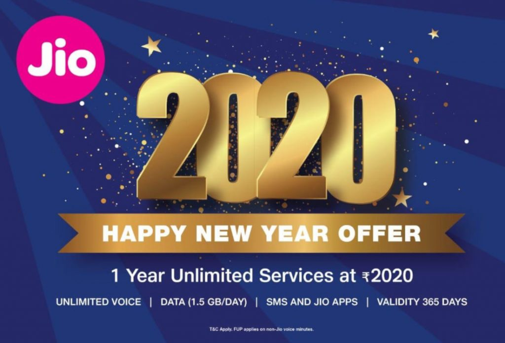 Reliance Jio 2020 Happy New Year Offer for smartphone, JioPhone users launched