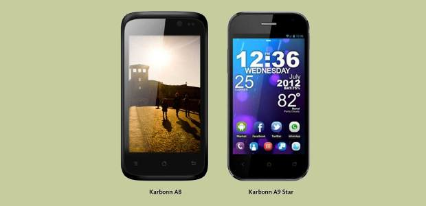 Karbonn launches A8 and A9 entry level Android smartphones
