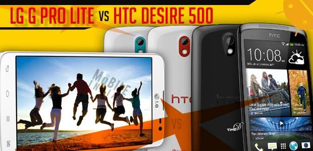 LG G Pro Lite vs HTC Desire 500