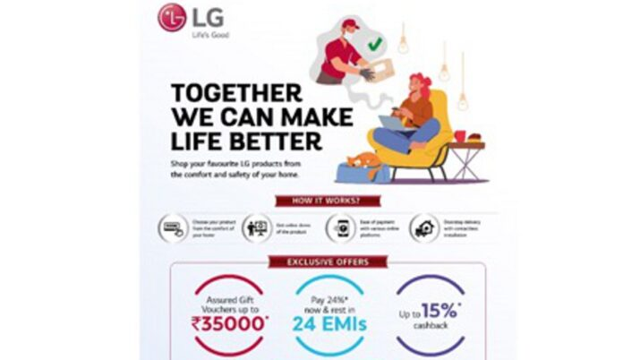 LG announces prebook Offer campaign, now Pre-Book and purchase LG products sitting at home