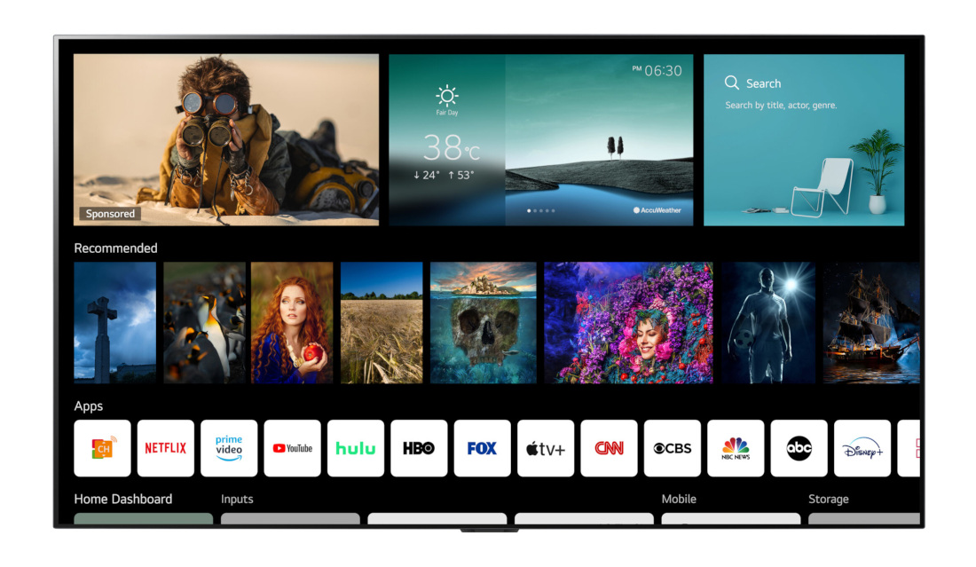 LG webOS 6.0 announced for 2021 OLED, QNED Mini LED, NanoCell and UHD smart TVs