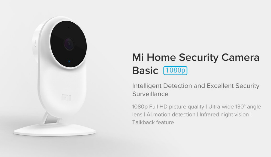 Xiaomi introduces Mi Home Security Camera Basic for Rs 1,999
