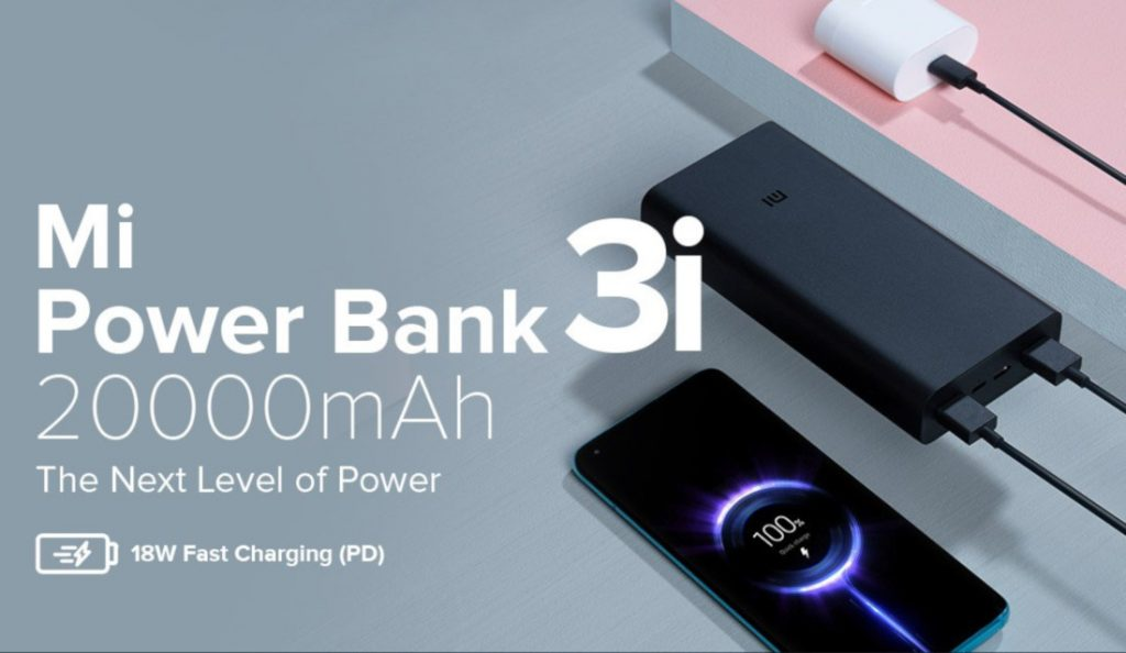 Xiaomi Mi Power Bank 3i with 10,000mAh and 20,000mAh capacities launched in India
