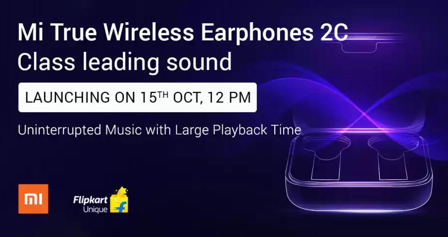 Mi True Wireless Earphones 2C to launch in India on October 15