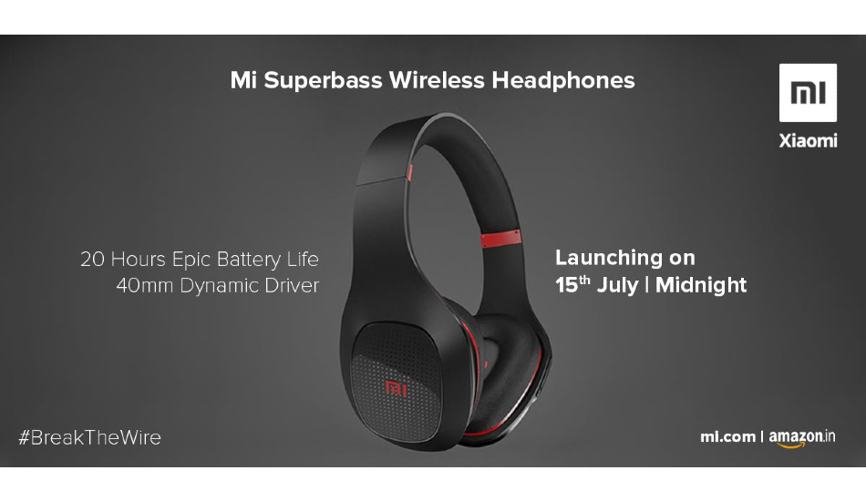 Xiaomi Mi Super Bass Wireless Headphone launched at Rs 1799