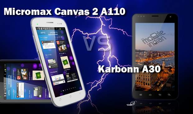 Micromax Canvas II vs Karbonn A30
