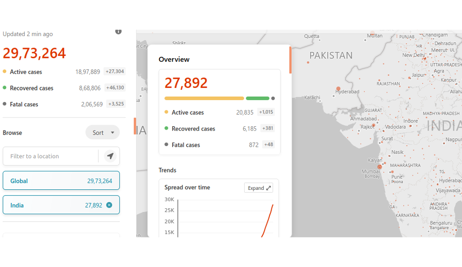 Microsoft Bing COVID-19 tracker gets new features to help Indians stay up to date