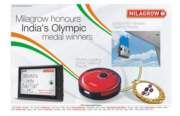 Milagrow to launch tablets to honor Olympic medal winners
