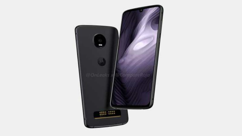Moto Z4 Play renders leaked, shows waterdrop notch and Moto Mods Support
