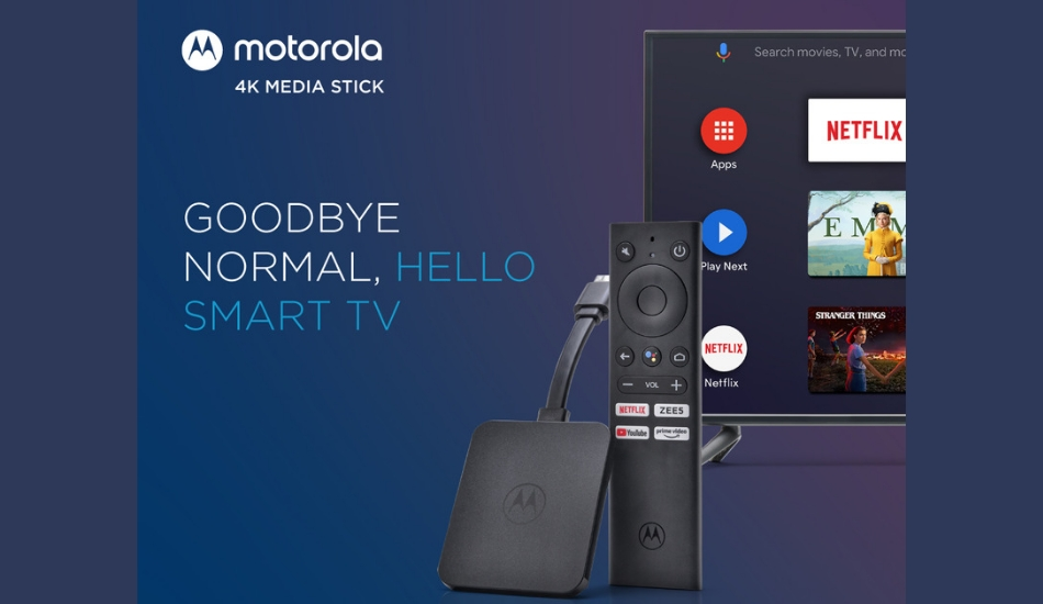 Motorola 4K Android TV Stick launched for Rs 3,999