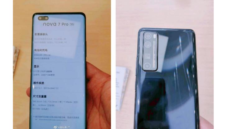 Huawei Nova 7, Nova 7 Pro and Nova 7 SE specifications, live images surfaced ahead of launch
