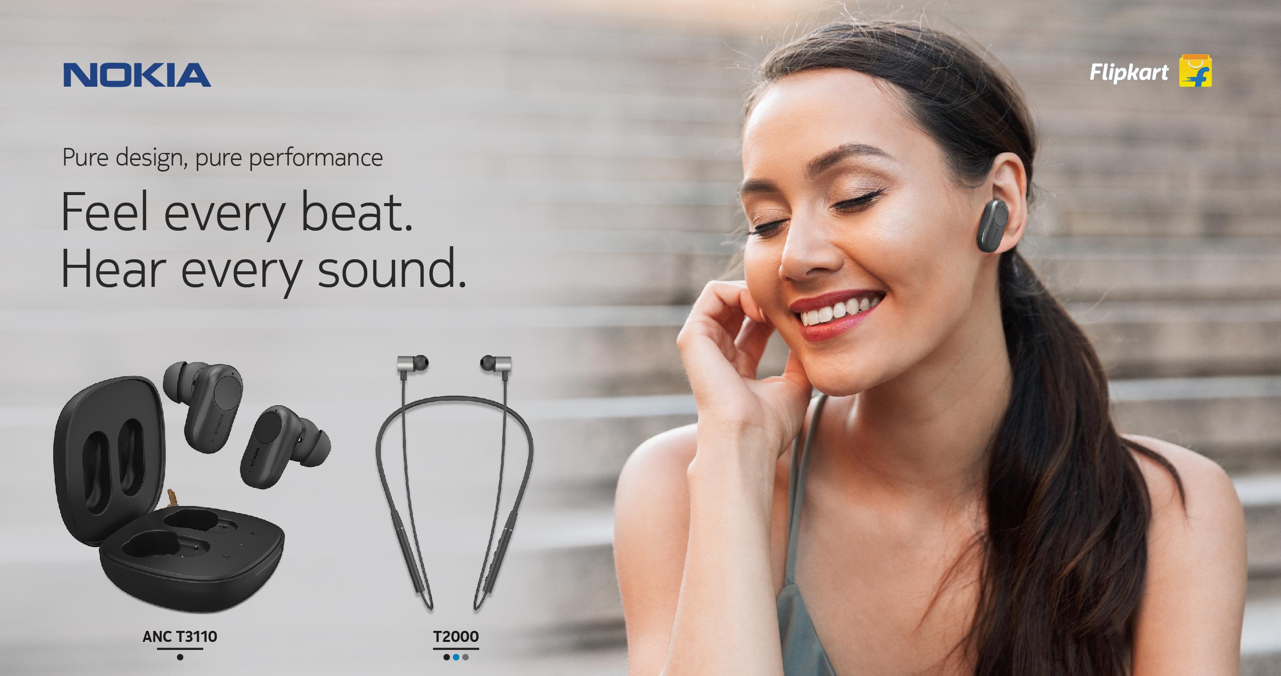 Flipkart launches Nokia TWS earbuds along with Neckband wireless earphones