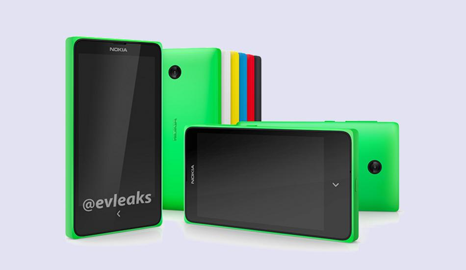 Nokia X poses in front of a camera