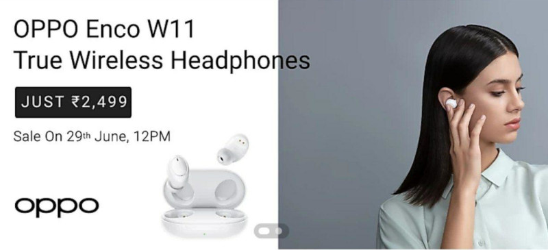 Oppo Enco W11 True wireless headphones launched in India