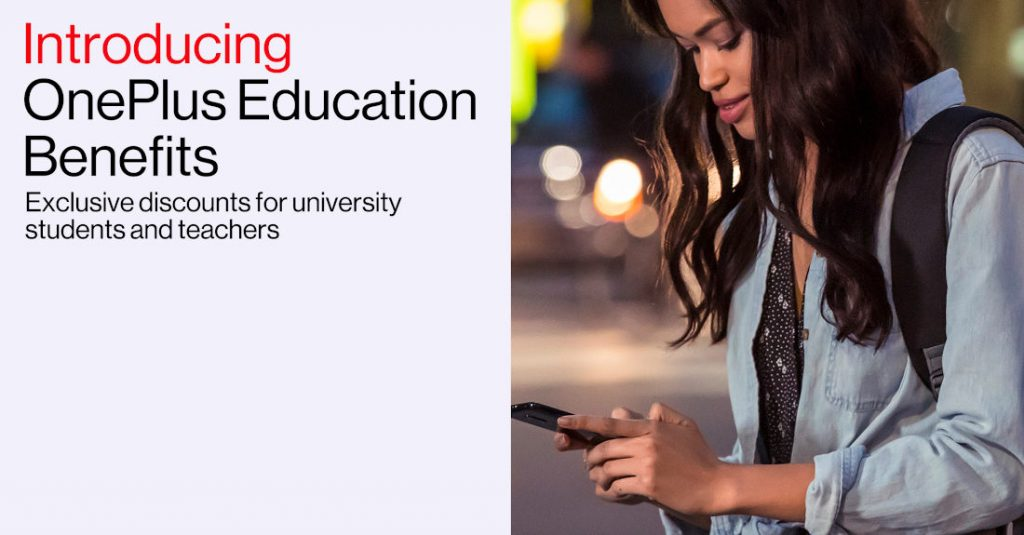 OnePlus Education Benefits offering discounts for university students and teachers in India