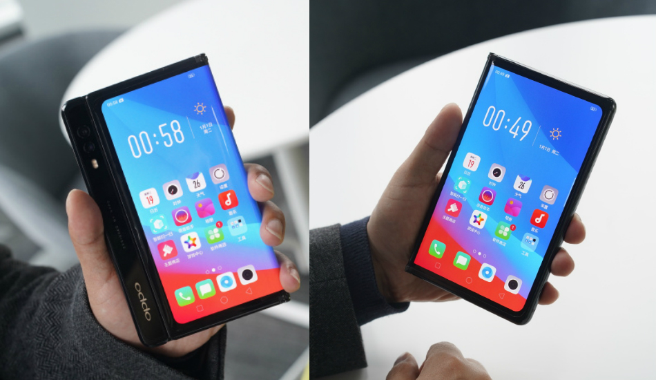 Oppo is working on a foldable phone with motorised pop-up camera