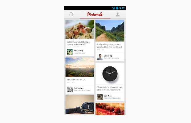 Official Pinterest app released for Android