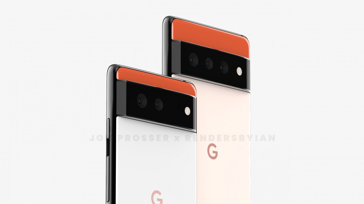 Pixel 6, Pixel 6 Pro appear in high-res renders with a unique design
