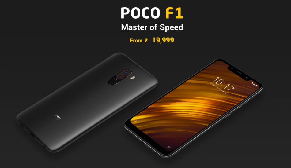 Xiaomi Poco F1 receives permanent price cut in India, now available starting at Rs 19,999