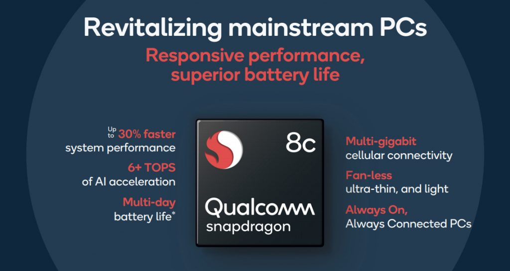 Qualcomm Snapdragon 7c, Snapdragon 8c compute platform announced