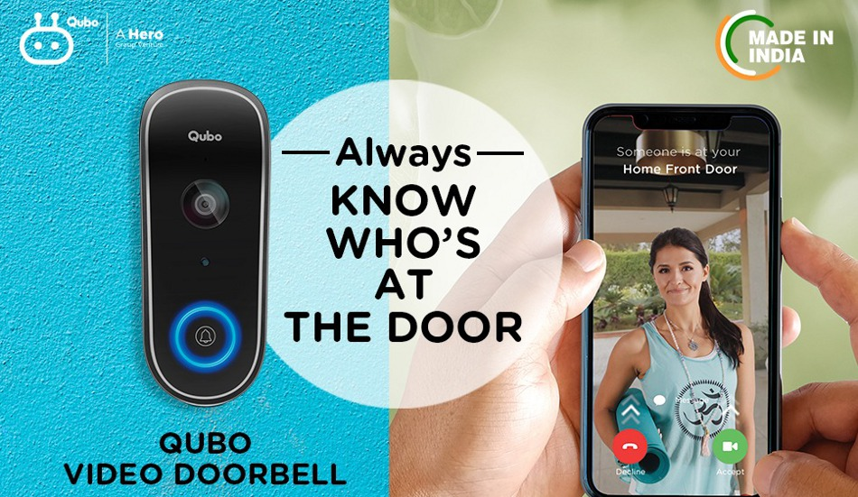 Hero Electronix launches Qubo Smart Wi-Fi Video Doorbell at Rs 9,990