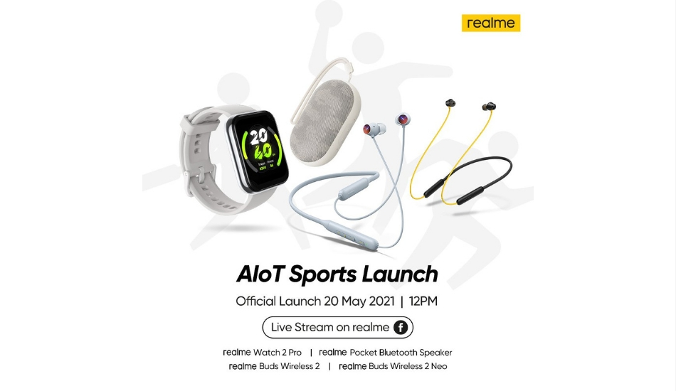 Realme to launch Buds Wireless 2, Buds Wireless 2 Neo, Watch 2 Pro, and pocket Bluetooth speaker on May 20th