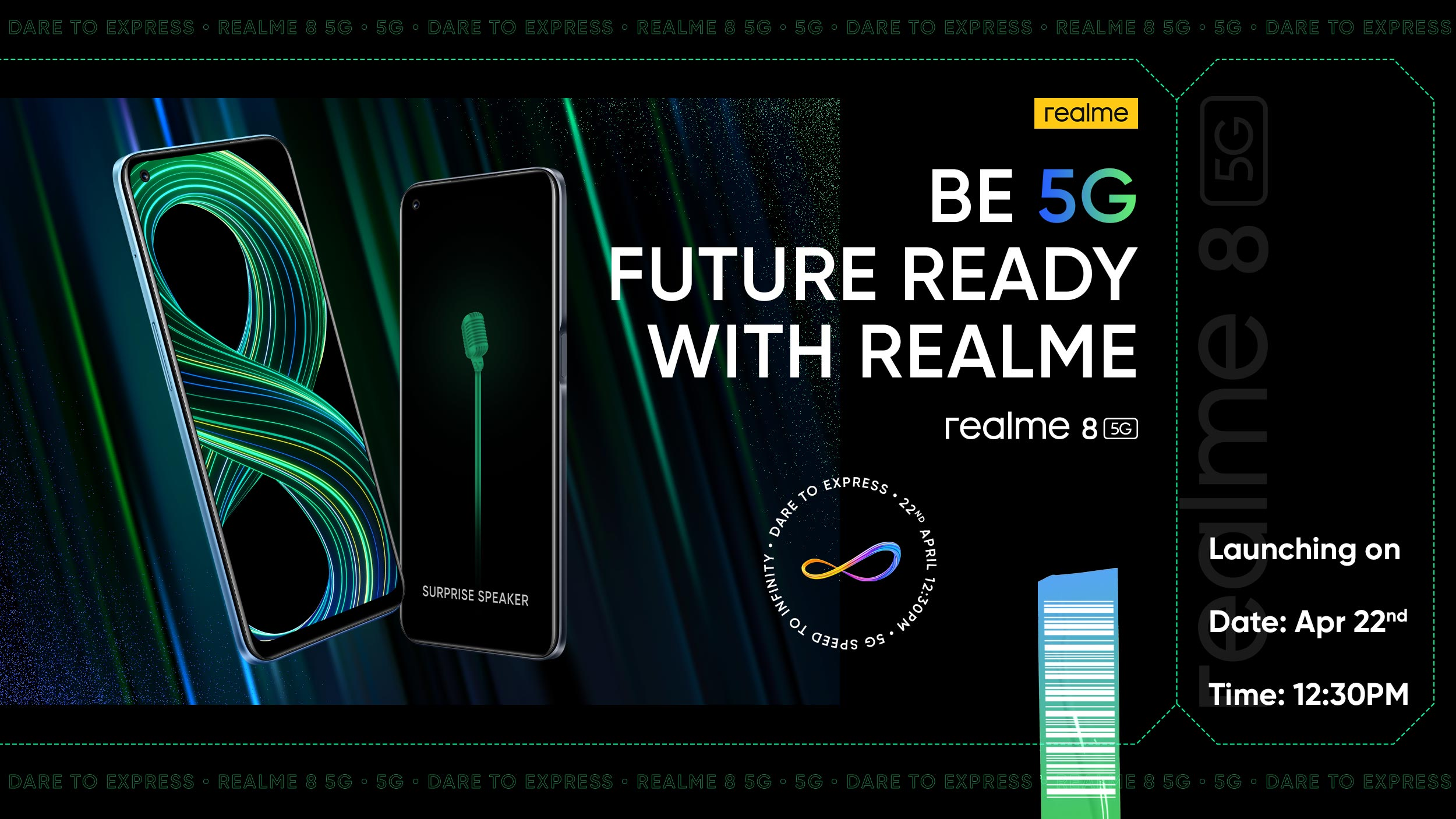 Realme 8 5G series to launch on April 22 in India