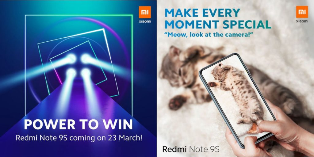 Redmi Note 9S with quad rear camera setup to be announced on March 23