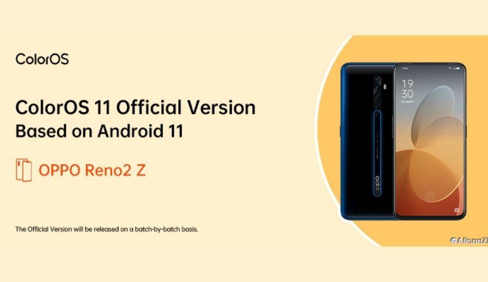 Oppo Reno 2Z, Reno 3A, Oppo A91 reportedly getting ColorOS 11 update