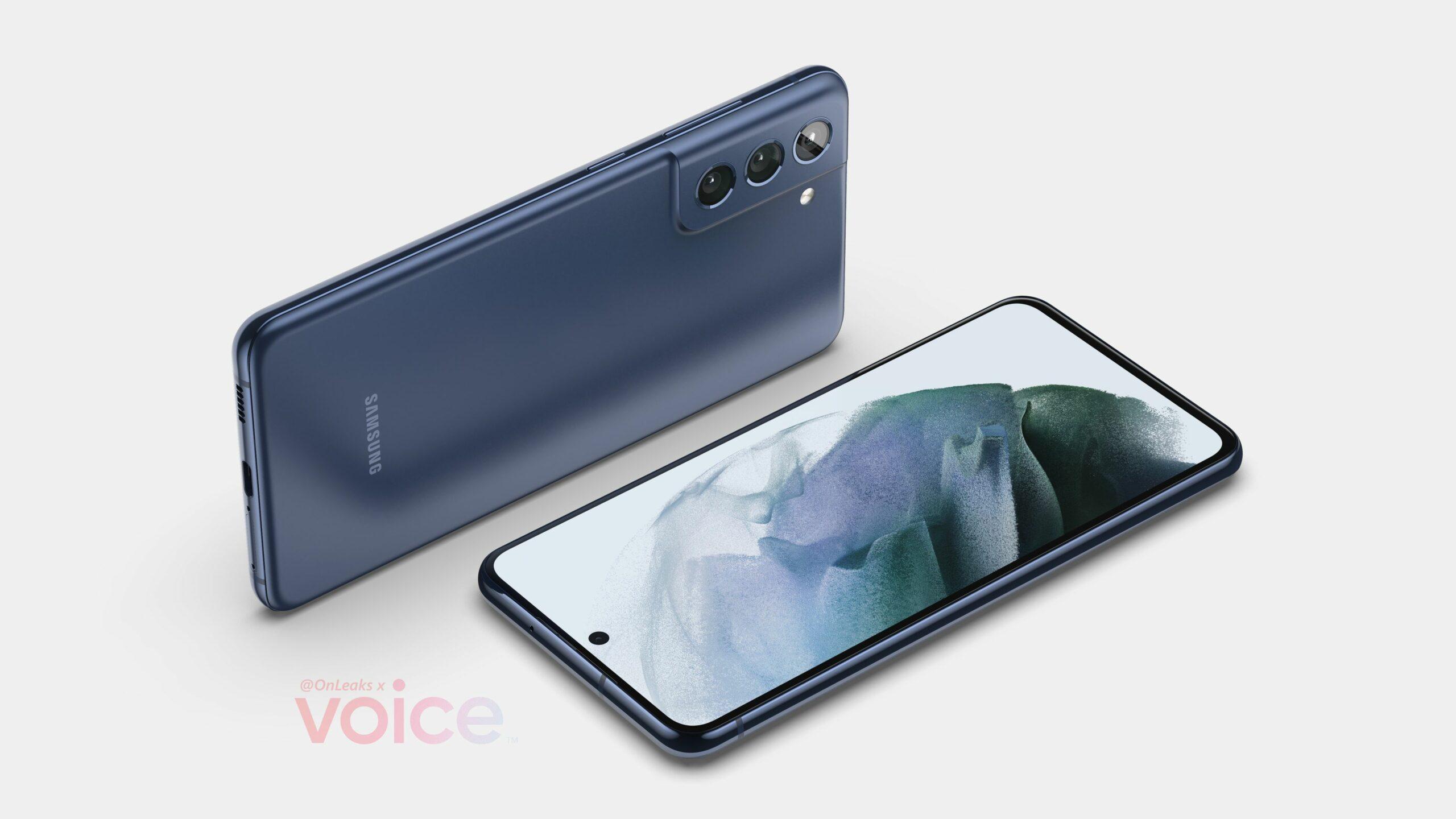 Samsung Galaxy S21 FE showcased through renders